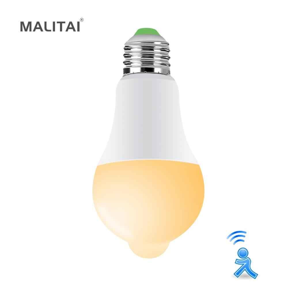 E27 PIR Motion חיישן LED אור נורות מנורת חיסכון באנרגיה 12W 18W 110V 220V מטבח ארון מדרגות מסלול מסדרון לילה תאורה