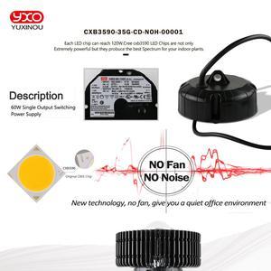 Image 5 - קריס CXB3590 3500K 100W COB LED לגדול אור ספקטרום מלא MeanWell נהג CREE LED מנורה גדלה צמח מקורה צמיחת לוח אור