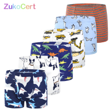 6Pcs/lot briefs for boys underwear kids boxer panties for 2 10years Soft Organic Cotton Teenager Childrens Pants baby Underpant