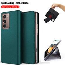 Étui portefeuille à rabat magnétique en cuir pour Samsung Galaxy, pliable, fendu, 5G