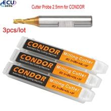 3pcs/lot , 2.5mm Cutter Probe for Xhorse CONDOR XC MINI Plus Dolphin XP 005 Dolphin XP 007 Key Cutting Machine