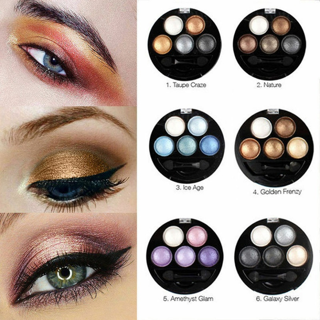 Professional 5 Color Eyeshadow Pallete Coastal Scents For Women Natural Radiant Smooth And Soft Waterproof And Easy To Remove