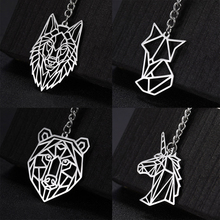 Anime Keychain Wolf Unicorn Gift Tiger Heart Stainless-Steel COOLTIME Bear Women Cat-Crane