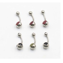 20pcs/lot 1.6*10*5/8mm Titanium Belly Button Rings Bars Navel Piercing Body Jewelry