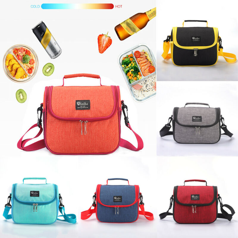 Lunch Bag Tote Hot Cold Insulated Thermal Cooler Work School Travel Picnic Case