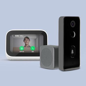 Xiaomi Mijia Smart wideodomofon 2 podczerwieni Night Vision dwukierunkowy domofon Doorman Human Detect 3Day Cloud Storage szerokokątny tanie i dobre opinie CN (pochodzenie) Smart Vedio Doorbell 2 Black 1920x1080 139° 4 5 months in standard mode 2 months in live mode AI control
