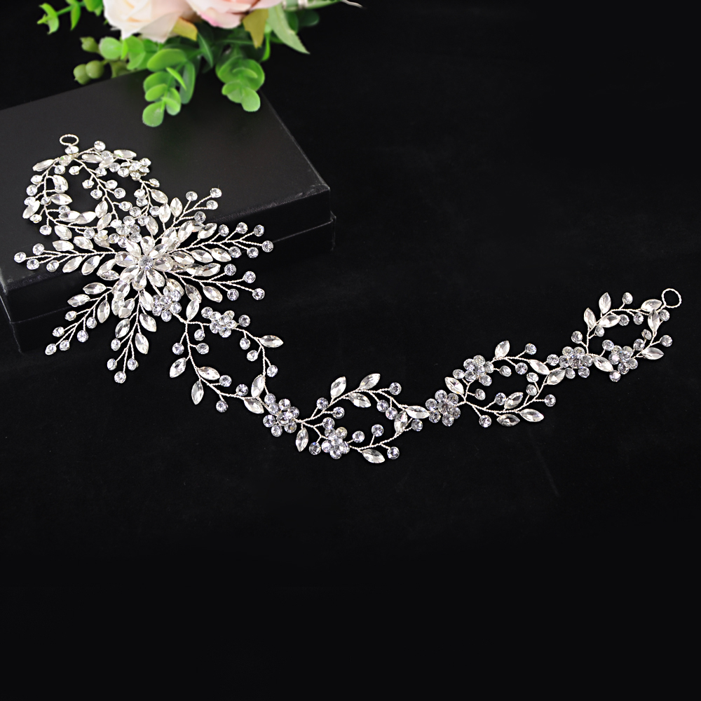 TRiXY H242 Rhinestones Bridal Headband for Wedding Headpieces Stunning Bridal Hair Jewelry Wedding Tiara  Women Hair Accessories