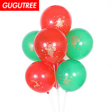 50pcs 12inch Red Green Latex Mix Balloons Wedding Event Christmas Halloween Festival Birthday Party HY-381 цена