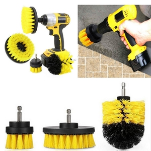 3pcs Power Scrubber Brush Set for Bathroom Drill Brushes Cordless Attachment Kit Power Toilet Brush Electric Cleaning Brush
