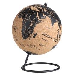 Kork Holz Tellurion Globus Marmor Karten Globen Hause Büro Dekoration Welt Karte Aufblasbare Ausbildung Geographie Karte Ballon Geschenk
