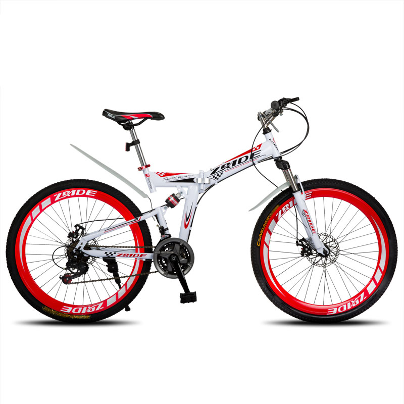 Mountain Bike 26 Inch 21/24/27/30 Speed Folding Mountain Bicycle Double Disc Brake  2019 New Suitable For Adults