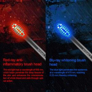 Image 2 - Spazzolino da denti elettrico Blu ray sbiancamento 4 modalità sbiancamento pulito massaggio sonic vibrazione impermeabile 2pcs teste spazzolino da denti elettrico