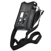 Pokrowiec ochronny talia regulowana klamra PU Leather Walkie Talkie Outdoor Belt profesjonalne trwałe akcesoria do BF UV9RPLUS w Części i akcesoria do krótkofalówek od Telefony komórkowe i telekomunikacja na