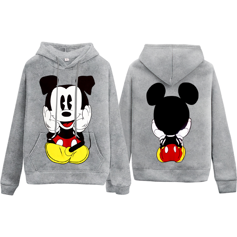 Mickey Mouse Hoodie Women Sweatshirt Girl Young Mickey Cartoon Casual Clothes Female Hoodies Hot Sale Tops