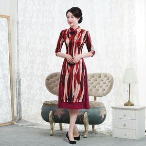 Image 2 - 고급 Cheongsam 드레스의 고대 방법을 복원하는 매일 개선에 슬리브 젊은 여성 패션의 2019 판매 7 분