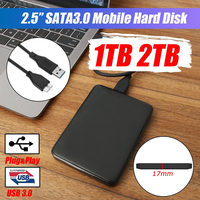 External Hard Drive USB3.0 HDD HD Hard Disk 1TB/2TB Mobile Hard Disk HDD Storage Devices For Macs Computer Desk Laptop
