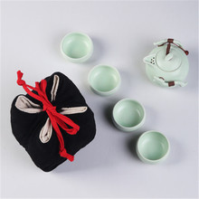 Storage-Bag Teapot And Cotton Travel XMT-HOME Canister-Set Cups Teaware Linen Pottery