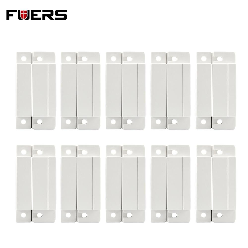 10pcs Wired Door Sensors Home Security Alarm Door Window Magnetic Sensor Switch Work With PTSN And GSM Alarm System