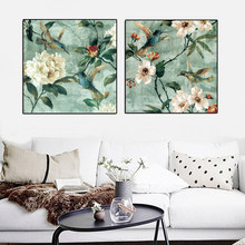 Traditional Hand Painted Flowers And Birds Modern Canvas Painting Posters and Prints Wall Art Picture Living Room Decor Cuadros