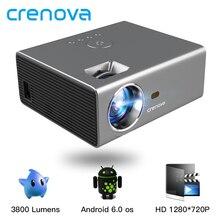 CRENOVA 2019 plus récent projecteur LED HD 1280*720P Android 6.0OS 3800 Lumens Home cinéma film Android projecteur avec WIFI Bluetooth