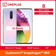 OnePlus 8 5G Smartphone Global Rom 8GB 128GB Snapdragon 865 Octa Core 6.55″ Fulid AMOLED Display 48MP Triple Cam 30W UFS 3.0 NFC