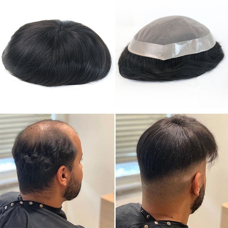 Toupee For Men Mono Base 6x8 7x9 8x10 Inches Remy Human Hair Durable Hairpieces Replacement System For Men Rosa Queen