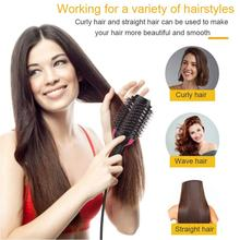 3 IN 1 Multifunction Negative Ion Hairbrush Comb Straight Roll Dual-use Hair