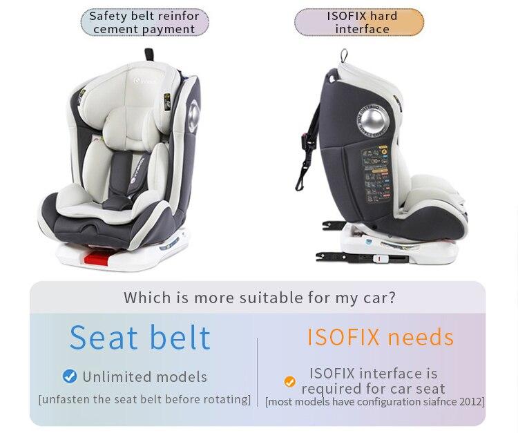 O assento de carro da criança para