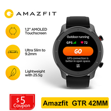Huami Amazfit GTR 42mm GPS Smart Watch Men 5ATM Waterproof Smartwatch 12 Days Battery AMOLED Screen 12 Sport Modes For Xiaomi global version huami amazfit gtr 42mm smart watch 5atm smartwatch 12days battery gps music control for xiaomi android ios
