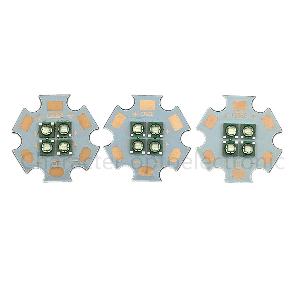 Cree XLamp MC-E RGBW LED Emitter 4-Chip Star PCB Board with Lens Reflector