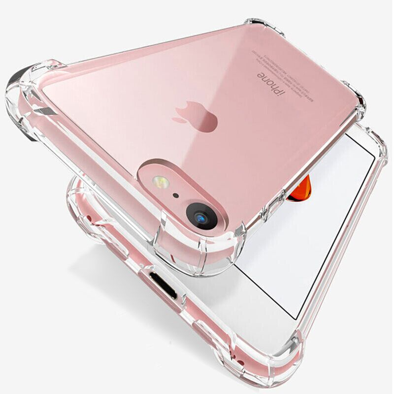 Luxury Shockproof Silicone Phone Case For iPhone 7 8 6 6S Plus 7 Plus 8 Plus XS Max XR 11 Case Transparent Protection Back Cover-in Fitted Cases from Cellphones & Telecommunications