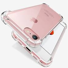 Luxe Schokbestendig Siliconen Telefoon Case Voor iPhone 7 8 6 6S Plus 7 Plus 8 Plus XS Max XR 11 Case Transparante Bescherming Back Cover(China)