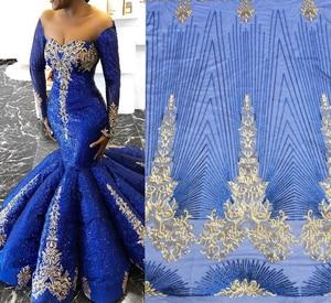 Image 5 - Biały kolor afryki koronki tkaniny 2020 haftowane koronki nigeryjskie tkaniny wysokiej jakości francuski tiul koronki tkaniny z cekinami L9166