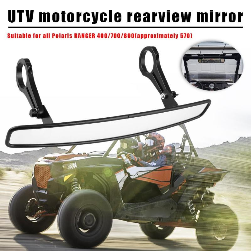"""15/"""" Wide Rear View UTV Race Lens Mirror for Off Road Can Am Maverick 2/"""" Cage"""