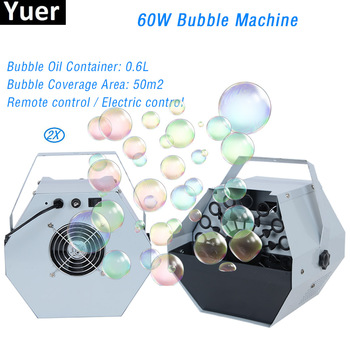 цена на 2Pcs/Lot 60W Bubble Machine Automatic Bubble Machine With High Output Remote Control For Wedding DJ Party Club Bar Stage Effect