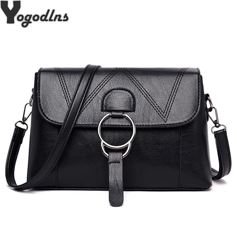 Women Messenger Handbag Shoulder Bag Crossbody PU Leather Satchel Sling Bag Chic