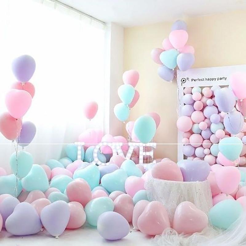 10/20pcs 10 Inch Macaron Love Heart Balloons Birthday Party Decorations Wedding Latex Helium Ballon Baby Shower Supplies Globos