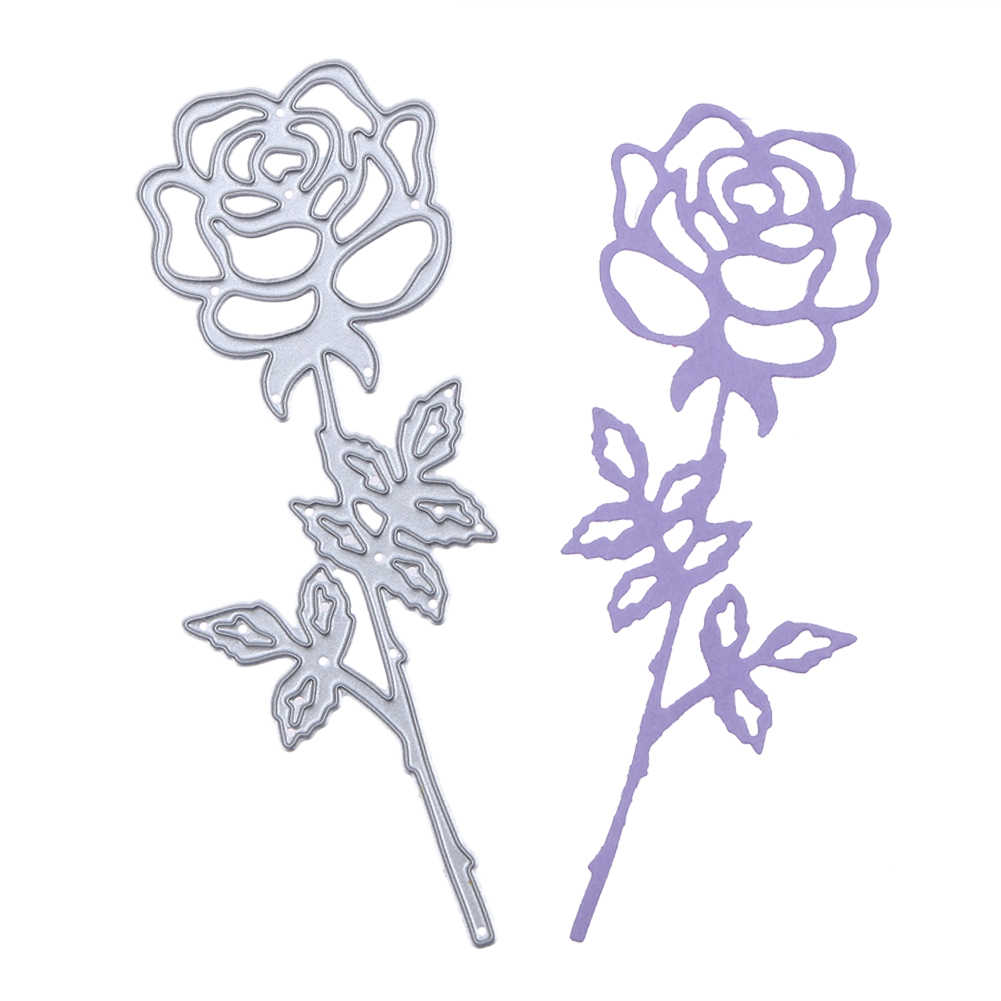 Rose DIY Metal Embroidery Puzzle Stencil Scrapbook Album Craft Cutting Die