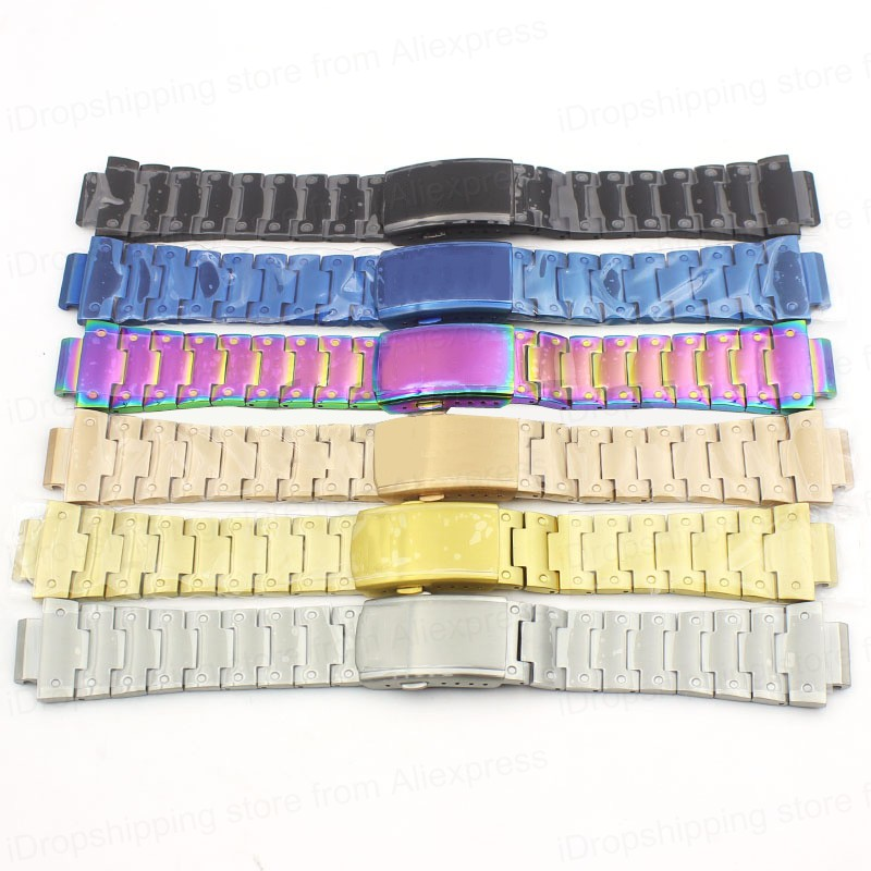 DW 5600 Metal Strap Band 316L Stainless Steel Watchband Case For Casio GW-5000 5035 GW-M5610 5600 Steel Belt Watch Band + Tools