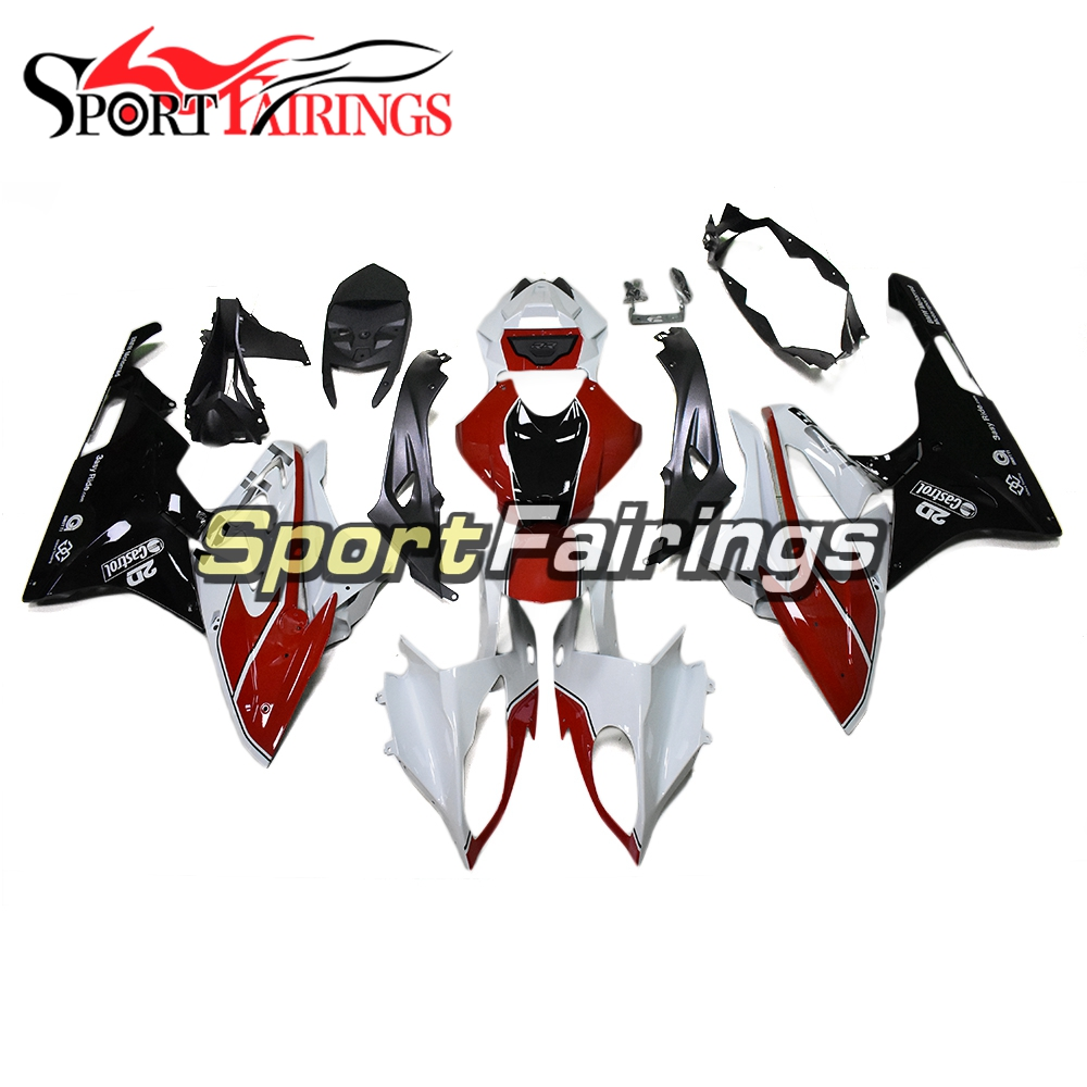 Body Frames for BMW S1000RR 2015 2016 Fairings ABS Plastic Covers Motorcycle S1000RR 15 16 Bodywork White Red Black Cowlings image