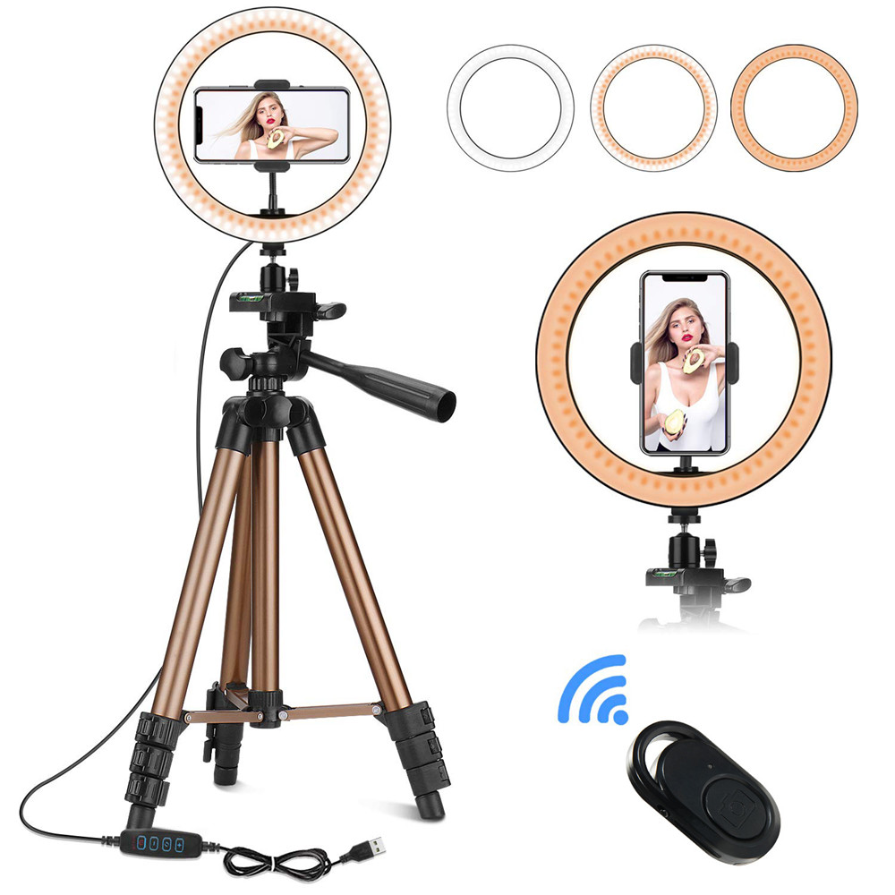 Photography Selfie Stick 6inches/10inches LED Ring Light With Phone Holder For Live Stream Youtube Makeup Video