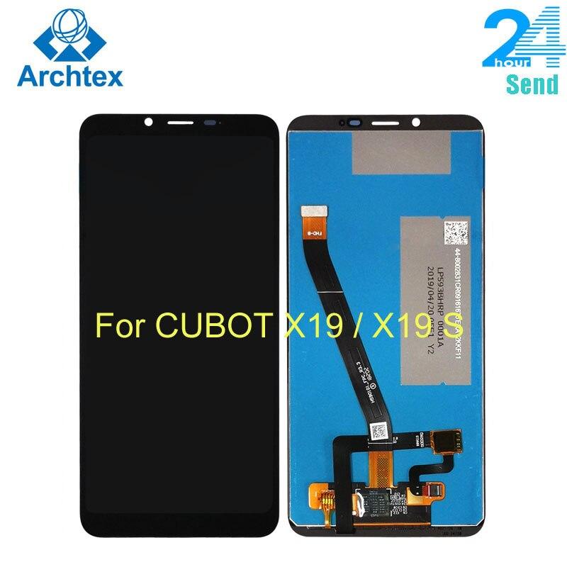 Для оригинального Cubot X19 ЖК-дисплей Дисплей + кодирующий преобразователь сенсорного экрана в сборе Запчасти для авто для Cubot X19S 5,93 дюймов FHD + ...