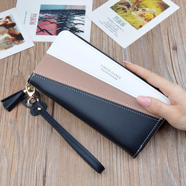 Купить новый чехол кошелек длинный женский кожаный бумажник с застежкой
