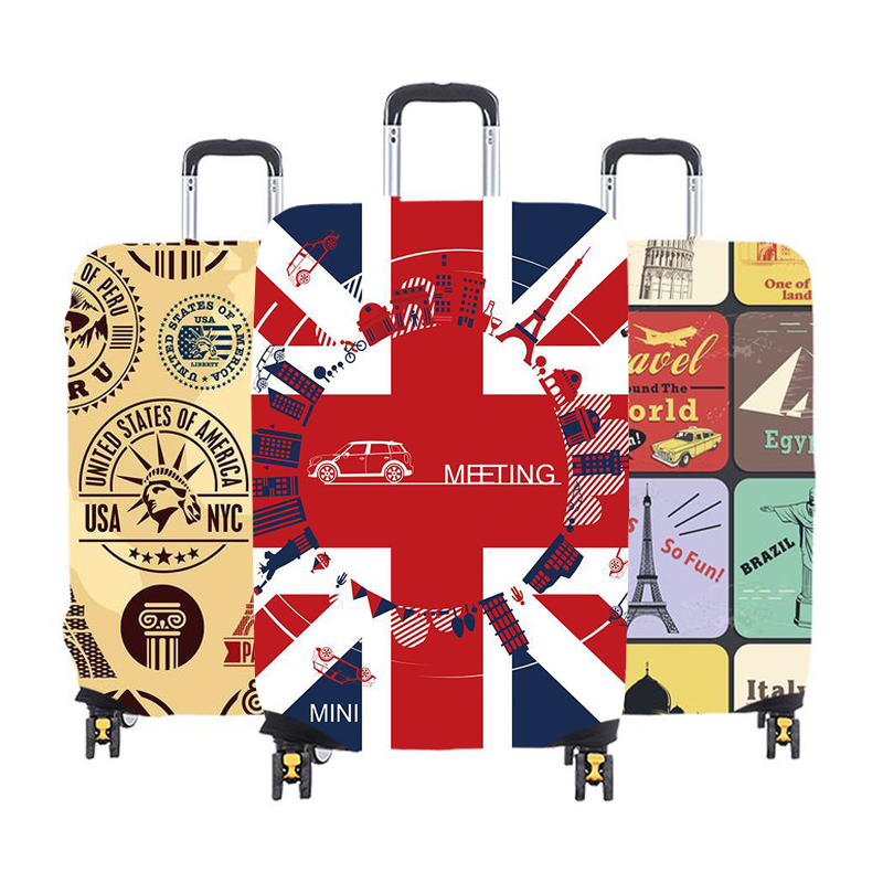 Thirteen Colors Thicken Luggage Protective Cover 19-32inch Trolley Baggage Travel Bag Covers Elastic Protection Suitcase Case