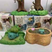 Takara 8pcs/set Anime Pikachu Eevee Squirtle Stump POKEMON Toys Model Desktop Action Figures Birthday Gifts for Kids
