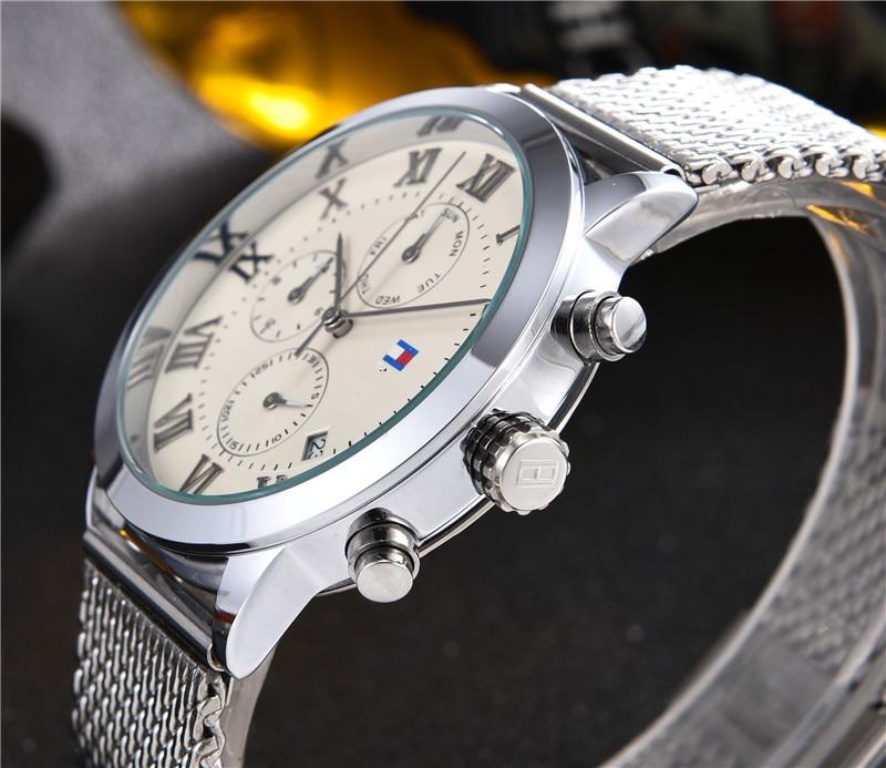 Top Diamond  Brand Digite  Watch Rlo  Dz Auto Date Week Display  Luminous Diver Watches  Stainless Steel Wrist Gift Male Clock