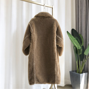 Image 2 - 2020 Winter Faux Fur Teddy Coat Women High Street Oversized Teddy Jackets And Coats Ladies Outwear Parka Warm Shaggy Coat