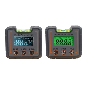 2key digital inclinometer level box protractor angle finder gauge meter bevel level boxes illuminated lcd display Digital Protractor Angle Gauge Finder Bevel Box Level Bubble Vial 360 Degree Inclinometer Protractor Measuring Tools