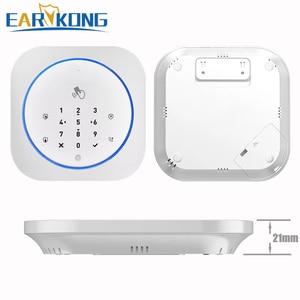 Image 5 - Sistema de alarme seguro app gsm, teclado touch, 433mhz, porta aberta e fechada, alarme, infravermelho, imunidade animal detector de movimento