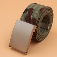 Canvas Belt Women Jeans Trousers High-Quality Fashion Unisex Metal 150cm Camouflage New